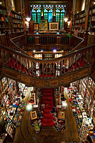 Lello & Irmao Bookstore in Porto, Portugal