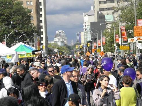 Crowds at The Word on the Street Festival in Toronto